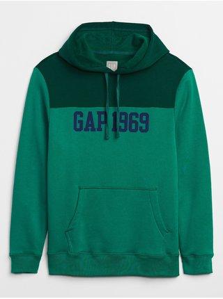 Zelená pánská mikina GAP Logo Hoodie