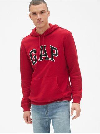 Mikina GAP Hoodie Logo Červená