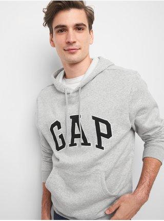 Šedá pánská mikina GAP Hoodie Logo