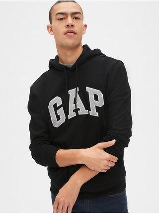 Čierna pánska mikina GAP Hoodie Logo