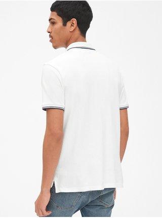 Polo tričko GAP Logo Biela