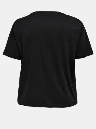 Čierne tričko s potlačou ONLY CARMAKOMA Lady