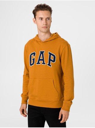 Oranžová pánska mikina GAP Logo