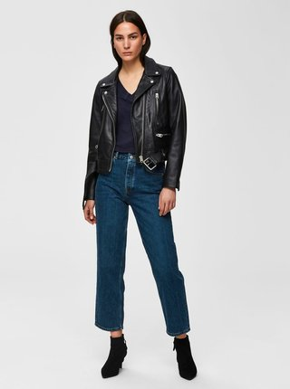 Modré straight fit rifle Selected Femme Kate