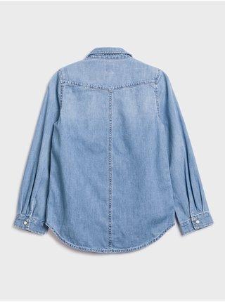 Modrá dievčenská rifľová košeľa GAP