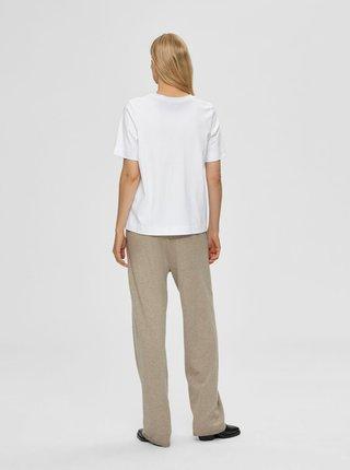 Biele tričko Selected Femme Studio