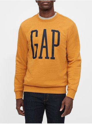 Žltá pánska mikina GAP Logo