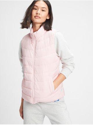 Růžová dámská vesta GAP