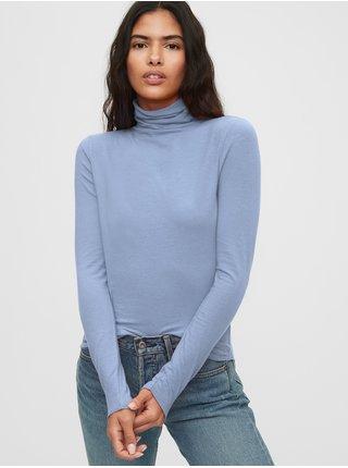 Modré dámské tričko s rolákem GAP
