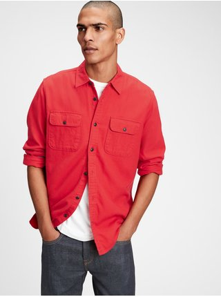 Červená pánska košeľa GAP