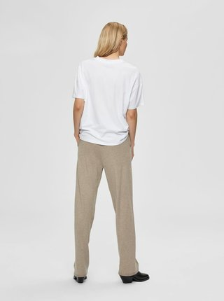 Biele tričko s potlačou Selected Femme Faces