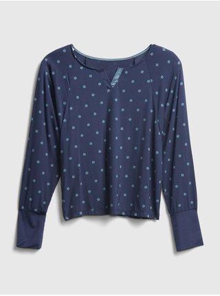 Modré dámské tričko na spaní GAP