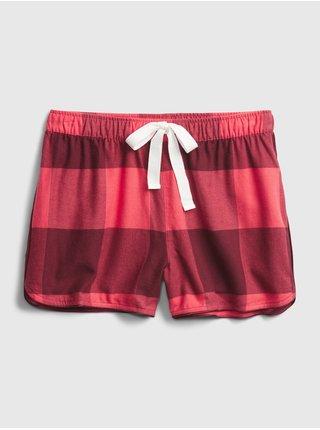 Červené dámske pyžamové kraťasy GAP