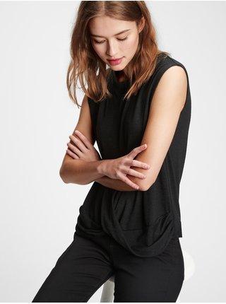 Čierne dámske tričko GAP
