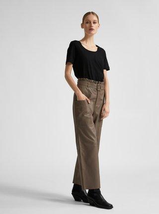 Čierne basic tričko Selected Femme