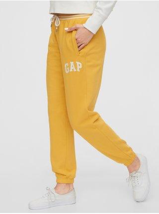 Žluté dámské tepláky GAP Logo