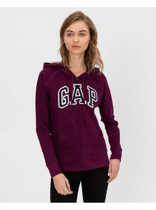 Vínová dámská mikina GAP Logo