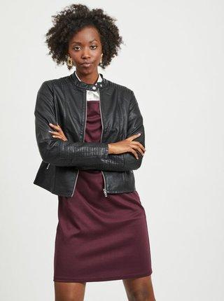 Černá koženková bunda VILA