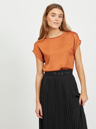 Oranžová blúzka VILA