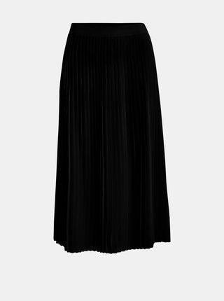 Čierna plisovaná midi sukňa VILA