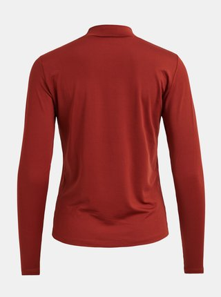 Tehlové tričko so stojáčikom VILA