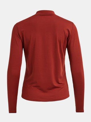 Cihlové tričko se stojáčkem VILA
