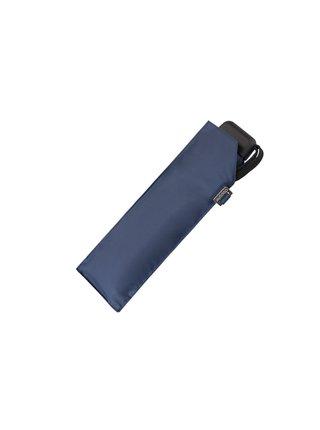 Doppler Carbonsteel SLIM UNI modrý odlehčený skládací plochý deštník - Modrá
