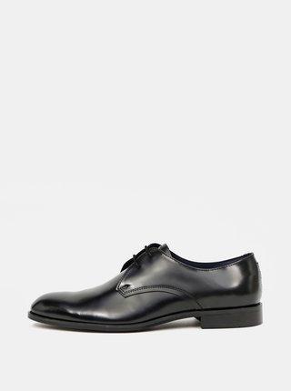 Čierne kožené poltopánky Burton Menswear London