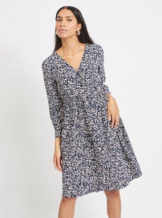 Modré kvetované šaty .OBJECT