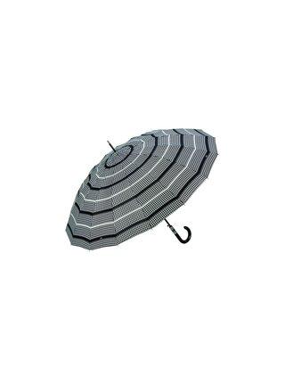 Cachemir Houndstooth velký dámský holový deštník - Hnědá