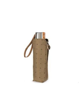 Cachemir Pocket pánský skládací mini deštník se vzorem - Hnědá