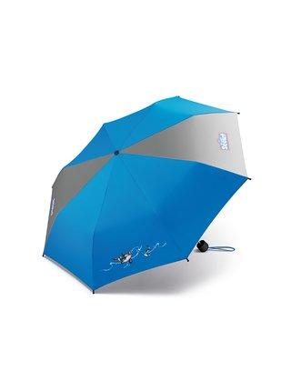 Scout Big Orca dětský skládací deštník s kosatkou - Modrá
