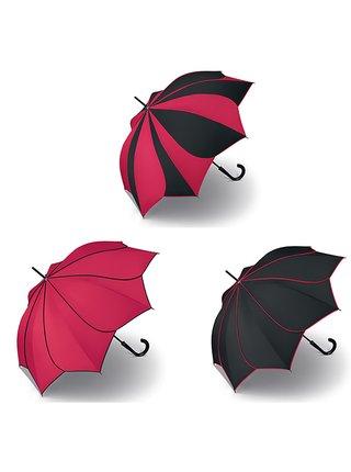 Pierre Cardin SUNFLOWER Red & Black deštník ve tvaru květiny - Červená
