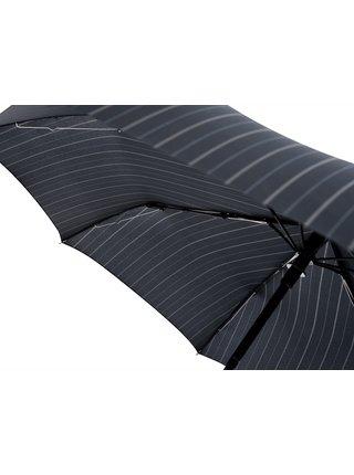 Doppler Magic FLIPBACK s proužky unikátní pánský plně automatický deštník - Černá