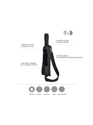 Doppler Golf Trekking skládací černý - Černá