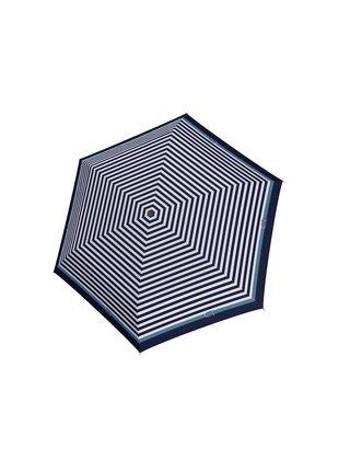 Doppler Carbonsteel SLIM Delight modrý pruhovaný skládací plochý deštník - Modrá