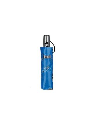 Cachemir Leaf dámský luxusní skládací deštník v dárkové krabičce - Modrá