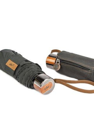 Cachemir Pocket černý pánský skládací mini deštník - Černá