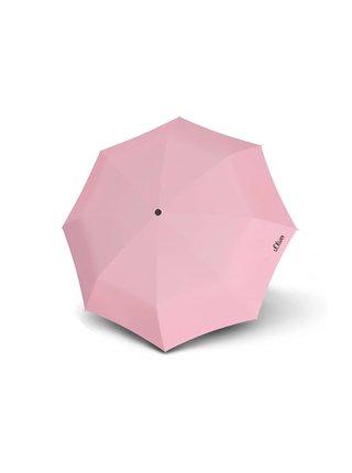 s.Oliver Fruit Cocktail růžový skládací deštník s kulatou rukojetí - Růžová