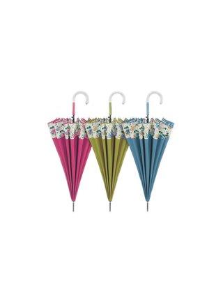 Cachemir Floral dámský holový deštník - Růžová