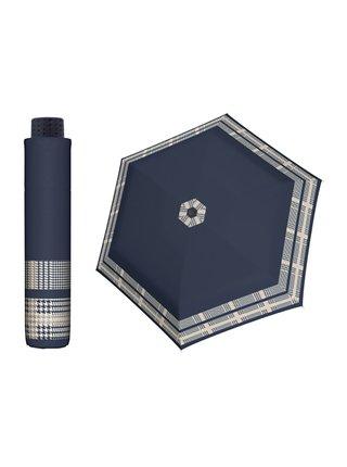 Doppler HAVANNA Timeless modrý se vzorem ultralehký skládací deštník - Modrá