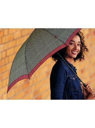 s.Oliver Smart Uni Glencheck pink skládací mini deštník - Pink