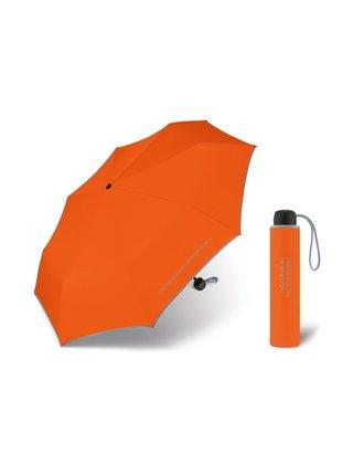 United Colors of Benetton Super Mini Tangerine - oranžový deštník s šedým lemem - Oranžová