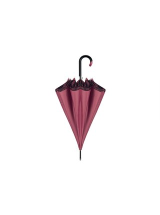 Cachemir Dogtooth luxusní dámský deštník s dvojitým potahem - Vínová