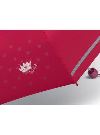 Scout RED PRINCESS dívčí skládací deštník - Červená