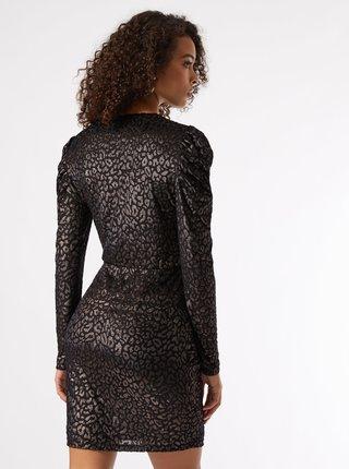 Černé společenské vzorované šaty Dorothy Perkins Tall
