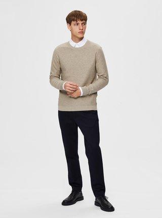 Béžový basic svetr Selected Homme