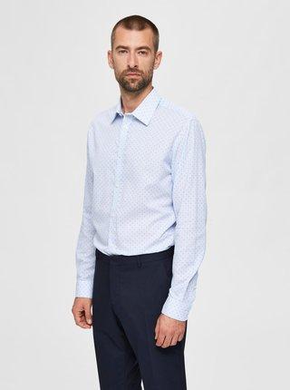 Světle modrá vzorovaná košile Selected Homme