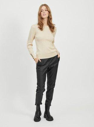 Čierne nohavice s povrchovou úpravou .OBJECT