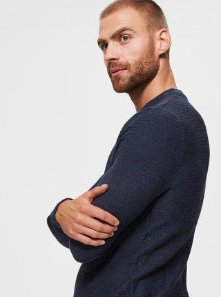 Tmavě modrý basic svetr Selected Homme
